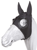 Race Hood W/Ears - Half Cup Black Racing