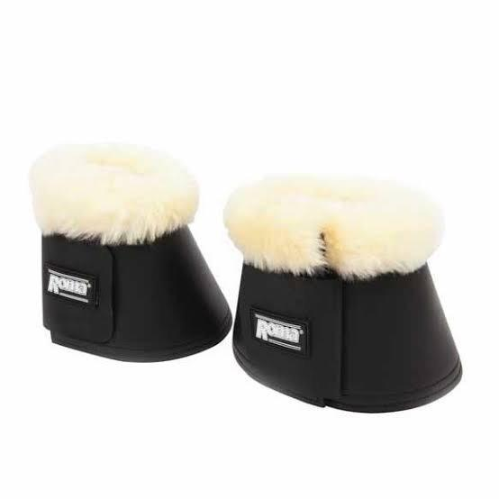 Roma Sheepskin Trim Bell Boots Horse Boots and Bandages