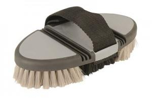Roma Soft Grip Body Brush Grey Grooming
