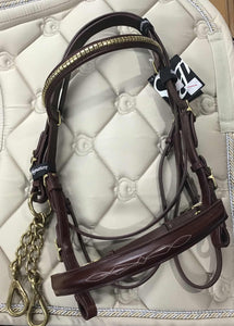 Signature In Hand Bridle - Oak Cob Bridles