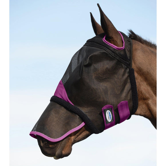 Weatherbeeta Comfitec Durable Mesh Fly Mask with Nose Cover Accessories