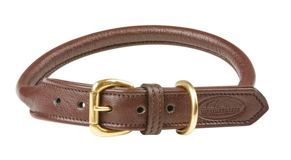Weatherbeeta Rolled Leather Dog Collar Dog Collars and Leads
