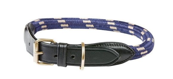 Weatherbeeta Rope Leather Dog Collar Dog Collars and Leads