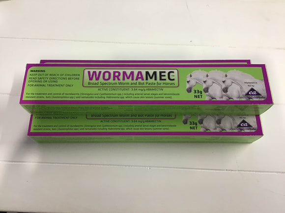 Wormamec Broad Spectrum Worm & Bot Paste for Horses Veterinary Products