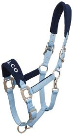 Zilco Fleece Nose Halter - Sky Blue Halters and Leads