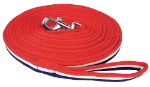 Zilco Lunge Lead Soft Red/Wht/Blue Training Aids - Breastplates, Martingales, Running Reins etc.
