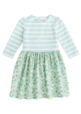 Rosie Dress - Kensington Floral Ivy - Posh Tots Children's Boutique