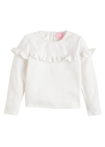 Emily Top - Ivory - Posh Tots Children's Boutique