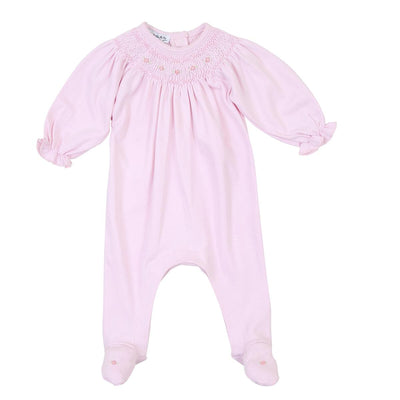 Mandy and Mason's Classic Bishop Footie - Pink - Posh Tots Children's Boutique