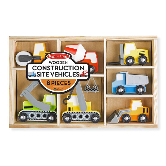 Wooden Construction Site Vehicles - Posh Tots Children's Boutique