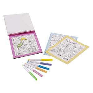 Color by Number - Pink Coloring Pad- On the Go Travel Activity - Posh Tots Children's Boutique
