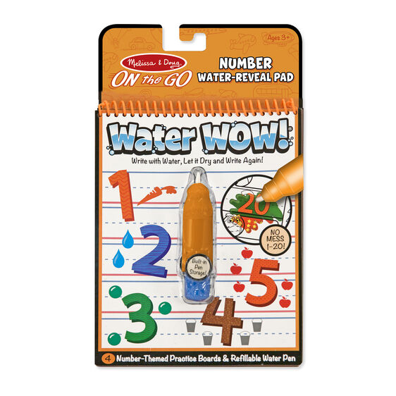 Water Wow! Number - On the Go Travel Activity - Posh Tots Children's Boutique