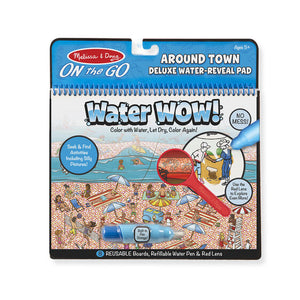 Water Wow! Around Town Deluxe Water-Reveal Pad - On the Go Travel Activity - Posh Tots Children's Boutique