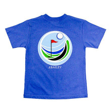 Load image into Gallery viewer, Golf Logo Shirt, Blue - Posh Tots Children's Boutique