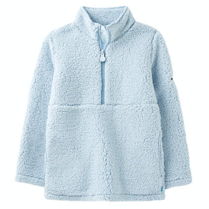 Poppie Fleece Pullover - Light Blue - Posh Tots Children's Boutique