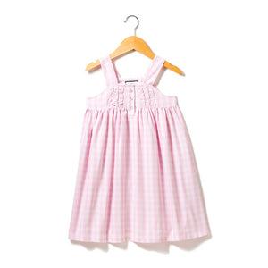Pink Gingham Charlotte Nightgown - Posh Tots Children's Boutique