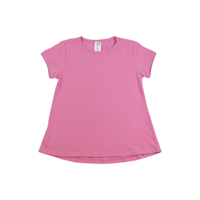 Bridget Basic Tee - Pink Gingham - Posh Tots Children's Boutique
