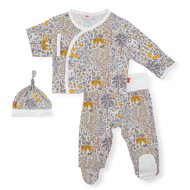 Sumatra 3 pc Kimono Set - Posh Tots Children's Boutique
