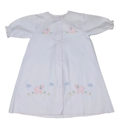 Pink Lamb L/S Daygown - Posh Tots Children's Boutique