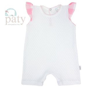 Paty Knit Playsuit, Pink
