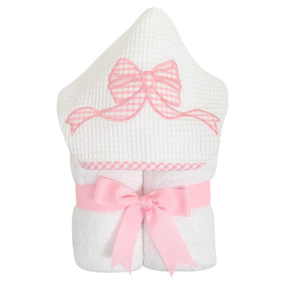 EveryKid Towel - Pink Bow - Posh Tots Children's Boutique