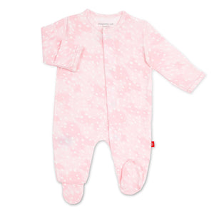 Pink Doeskin Magnetic Footie - Posh Tots Children's Boutique