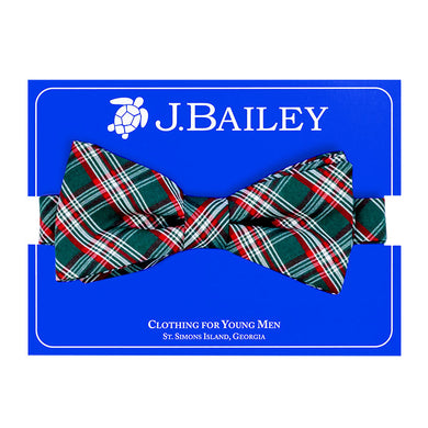 Johnny Bow Tie - Holly Plaid - Posh Tots Children's Boutique