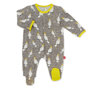 Whoo Hoo Cockatoo Magnetic Footie - Posh Tots Children's Boutique
