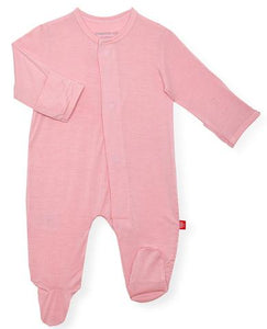 Dusty Rose Magnetic Footie - Posh Tots Children's Boutique