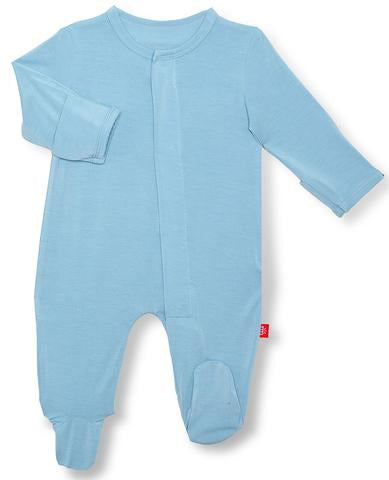 Glacier Solid Modal Magnetic Footie - Posh Tots Children's Boutique