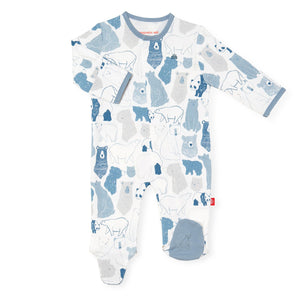 Cotton Magnetic Footie - Unbearably Cute - Posh Tots Children's Boutique