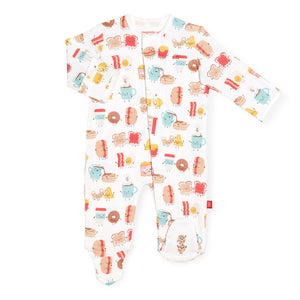 Better Together Cotton Magnetic Footie - Posh Tots Children's Boutique