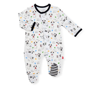 Raise the Woof Magnetic Footie - Posh Tots Children's Boutique
