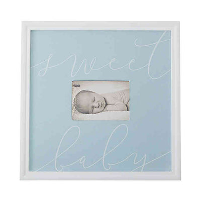 """Sweet Baby"" Picture Frame, Blue - Posh Tots Children's Boutique"
