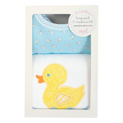 Bib & Burp Box Set - Yellow Duck - Posh Tots Children's Boutique