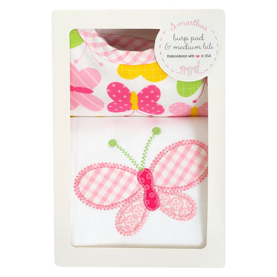Burp & Bib Box Set - Butterfly - Posh Tots Children's Boutique