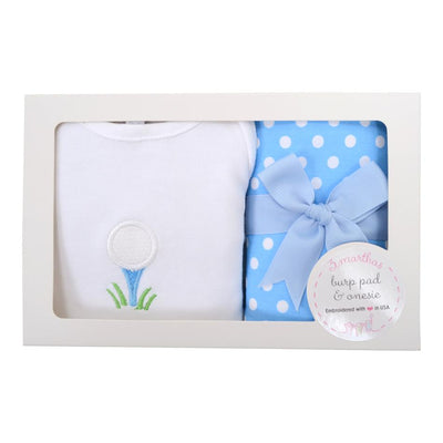 Onesie/Burp Set - Golf - Posh Tots Children's Boutique