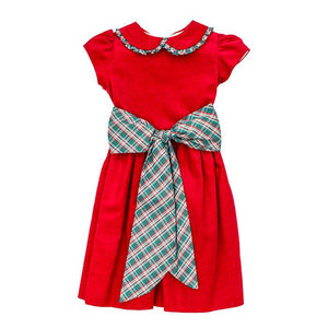 Holly Plaid Empire Dress - Posh Tots Children's Boutique