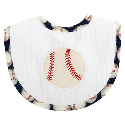 Basic Bib -Baseball - Posh Tots Children's Boutique