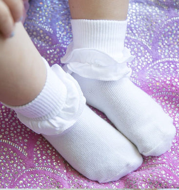 Misty Ruffle Turn Cuff Sock - Posh Tots Children's Boutique
