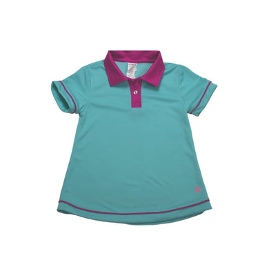 Gabby Golf Shirt - Teal - Posh Tots Children's Boutique