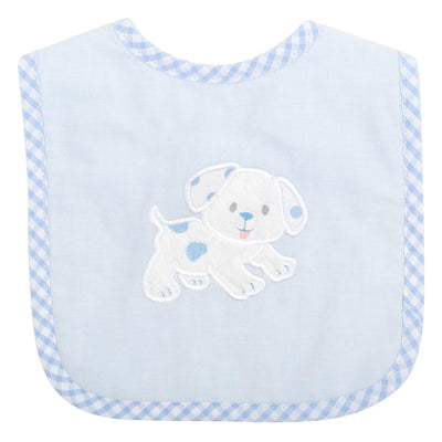 Basic Bib - Blue Puppy - Posh Tots Children's Boutique