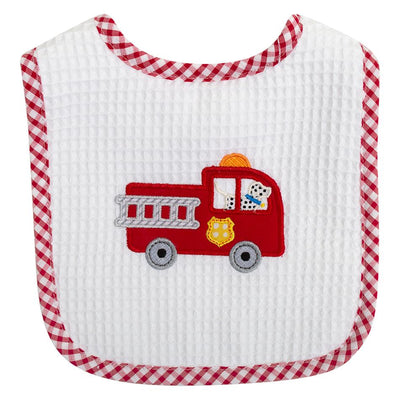 Basic Bib - Firetruck - Posh Tots Children's Boutique