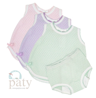 Paty Sleeveless Top with Diaper Cover - Posh Tots Children's Boutique