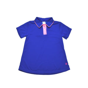 Gabby Golf Shirt - Royal - Posh Tots Children's Boutique