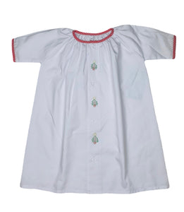 Tree Embroidered Daygown - Posh Tots Children's Boutique
