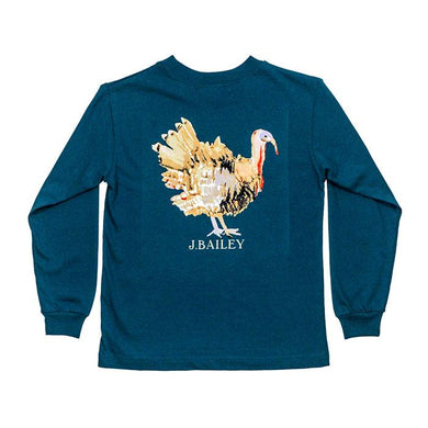 Turkey on Teal Logo Tee
