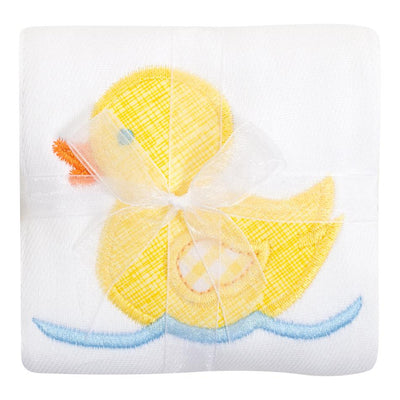 Applique Burp Cloths - Yellow Duck - Posh Tots Children's Boutique