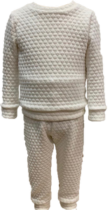 Quilted Sweatsuit - White - All Day Play - Posh Tots Children's Boutique