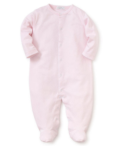 Pink/White Dots Print Footie - Posh Tots Children's Boutique